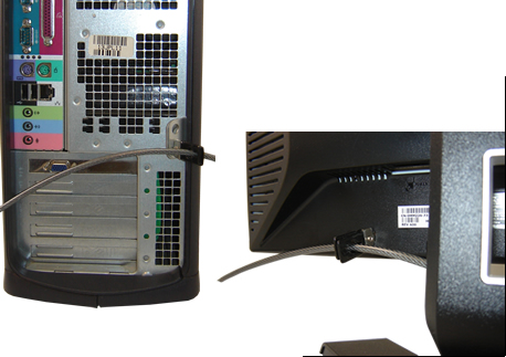 scissor clip being used in a monitor and a computer