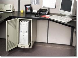 CPU Locker Mounted To Workstation